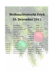 Weihnachtsmarkt Frick 10. Dezember 2011