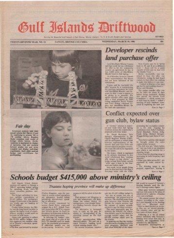 Schools budget $415,000 above ministry's ceiling - Salt Spring ...