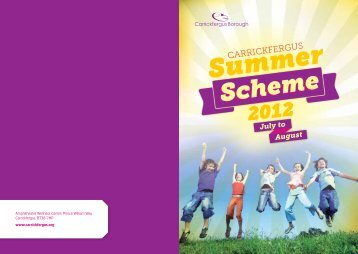 Summer Scheme Booklet 2012 - Carrickfergus Borough Council