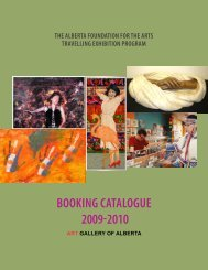 BOOKING CATALOGUE 2009-2010 - Art Gallery of Alberta