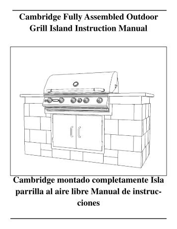 Cambridge Fully Assembled Outdoor Grill Island 3