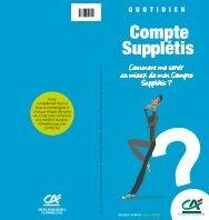Compte Supplétis - Crédit agricole Centre-est