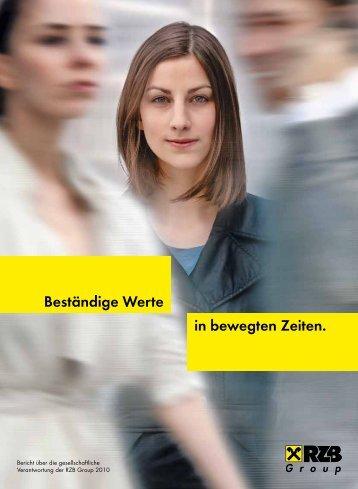 in bewegten Zeiten. Beständige Werte - Raiffeisen Zentralbank ...