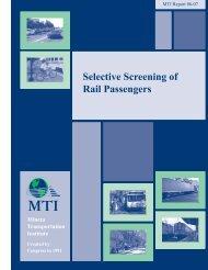Selective Screening of Rail Passengers - Mineta Transportation ...