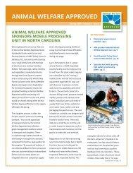Spring 2009 Animal Welfare Approved Newsletter