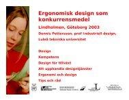 Ergonomisk design som konkurrensmedel - Smelink