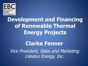 lvestus - Environmental Business Council of New England, Inc.