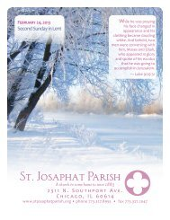 February 24, 2013 - St. Josaphat Parish