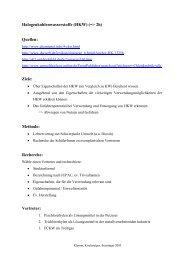Halogenkohlenwasserstoffe (HKW) (=> 2h) Quellen: Ziele: Methode ...