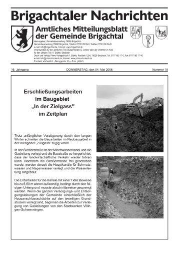 Erschließungsarbeiten im Baugebiet - Gemeinde Brigachtal