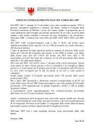 Nell'anno 2007 - Consiglio della Provincia autonoma di Bolzano