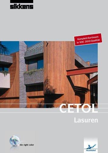 Cetol Lasuren - Farben Schmitt