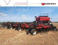 Precision seeding » Air carts & drills - Versatile