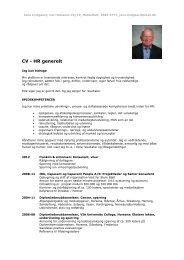 CV - Jens Lindgaard - Middelfart Erhverv
