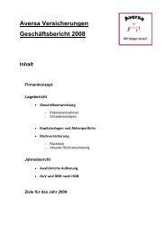 Aversa Versicherungen - Universität Oldenburg
