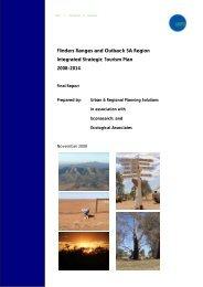 Flinders Ranges and Outback Integrated Strategic Tourism Plan