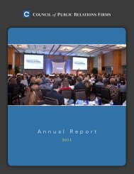 2012 Annual Report - Council of Public Relations Firms