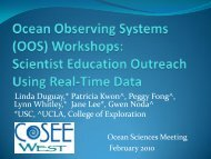 OOS Workshops - Centers for Ocean Sciences Education Excellence