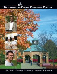 College Catalog - Westmoreland County Community College