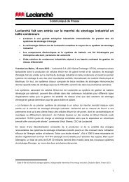 Press Release 18 January 2012 - Leclanché