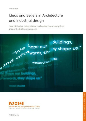 Ideas and Beliefs in Architecture and Industrial design: How ...