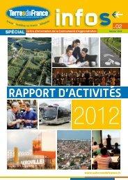Retrouvez le rapport d'activités 2012 disponible ... - Terres de France