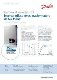 Gamma di inverter TLX Inverter trifase senza trasformatore ... - Danfoss