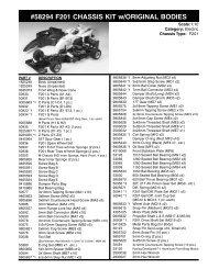 58294 F201 CHASSIS KIT w/ORIGINAL BODIES - Tamiya