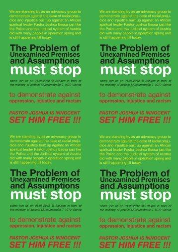 must stop must stop must stop must stop - No Racism