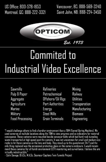 Opticom Industrial Video - Brochure
