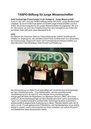 TASPO-Stiftung für junge Wissenschaftler - DGG