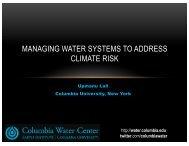 Upmanu Lall - Water Innovations Alliance