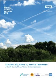 advance decisions to refuse treatment - National End of Life Care ...