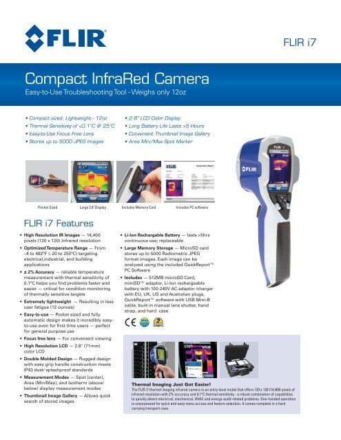 FLIR i7 Specification Sheet - Crescent Electric Supply Company
