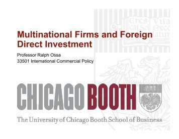 Multinational Firms and Foreign Direct Investment - Faculty