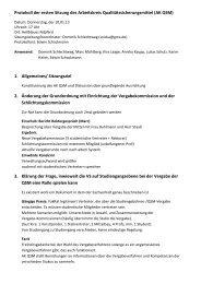 Protokoll der 1. Sitzung - FaVeVe