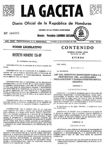 Decreto Legislativo 136-89 - cicad