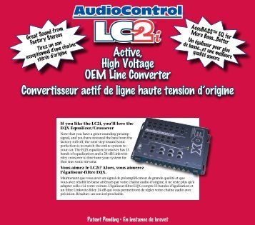 AudioControl® Active, High Voltage OEM Line Converter ...