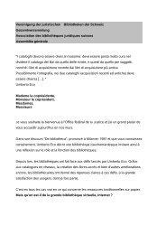 Vereinigung der juristischen Bibliotheken der Schweiz