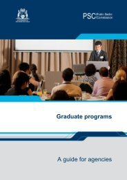 Graduate programs A guide for agencies - Public Sector ...
