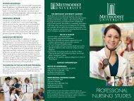 PROFESSIONAL NURSING STUDIES - Methodist University