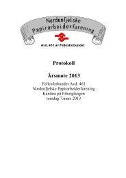 Årsmøteprotokoll 2013 - Fellesforbundet