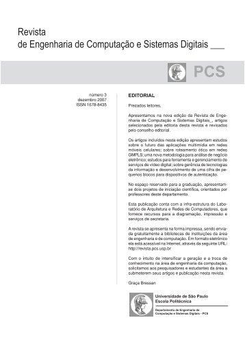 Revista de Engenharia de Computação e Sistemas Digitais - USP
