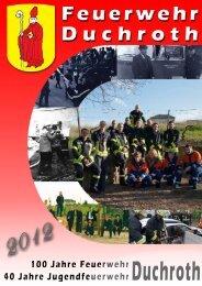 100 Jahre Feuerwehr Duchroth – Festschrift - Einsätze 2012