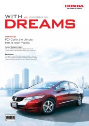 FCX Clarity, the ultimate form of clean mobility - Honda Malaysia