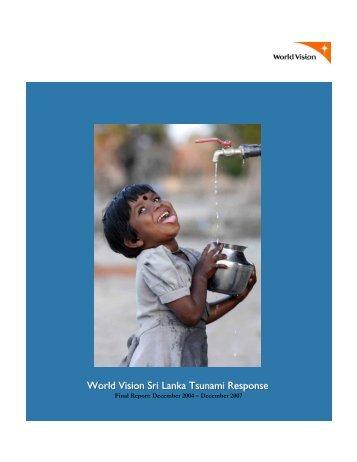 World Vision Sri Lanka Tsunami Response