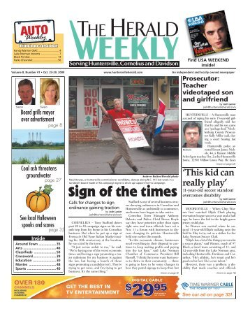 Sign of the times - Carolina Weekly Newspapers