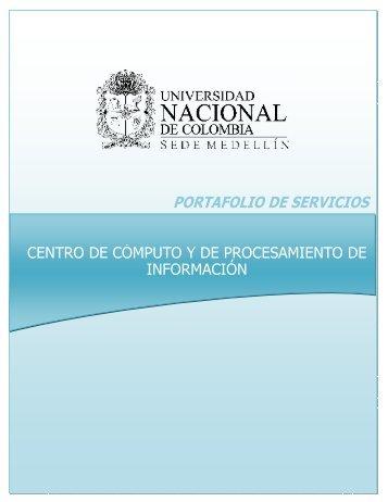 PORTAFOLIO DE SERVICIOS - Centro de Cómputo y de ...