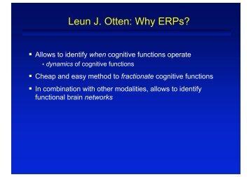 Thoughts on EEG interpretation
