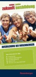 Handout zur Ausbildung - Rosenberger